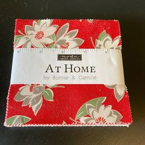 "At Home Bonnie Moda Fabrics Charm Pack 5"" Squares"